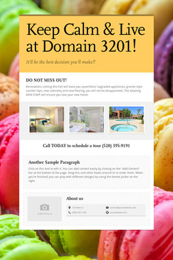 Keep Calm & Live at Domain 3201!