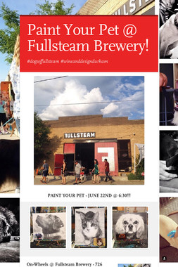 Paint Your Pet @ Fullsteam Brewery!