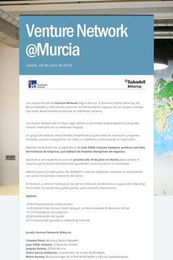 Venture Network @Murcia