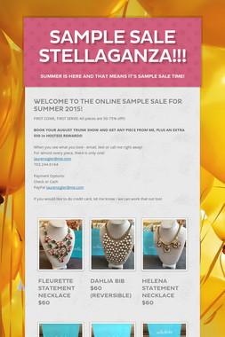 Sample Sale Stellaganza!!!
