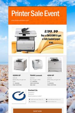 Printer Sale Event
