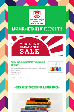 Last chance to get up to 70% off!!!