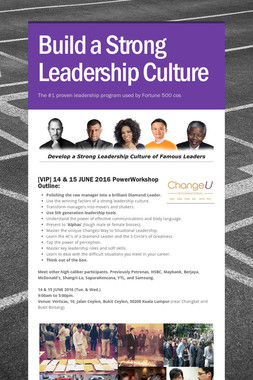 Build a Strong Leadership Culture