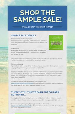 Shop The Sample Sale!