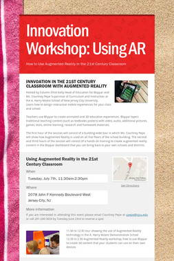 Innovation Workshop: Using AR