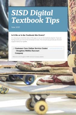 SISD Digital Textbook Tips