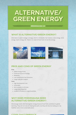 Alternative/Green Energy
