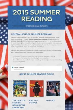 2015 Summer Reading