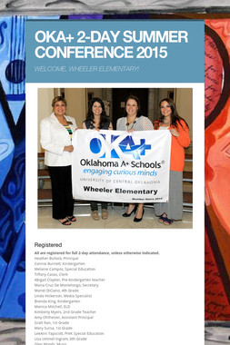 OKA+ 2-DAY SUMMER CONFERENCE 2015