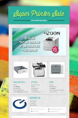 Super Printer Sale