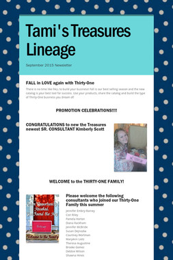 Tami's Treasures Lineage