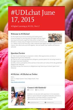 #UDLchat June 17, 2015