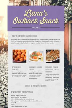 Liana's Outback Snack