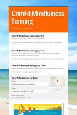 CrimFit Mindfulness Training