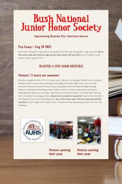 Bush National Junior Honor Society