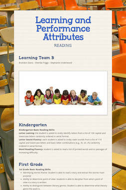 Learning and Performance Attributes