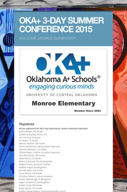 OKA+ 3-DAY SUMMER CONFERENCE 2015