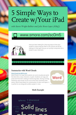 5 Simple Ways to Create w/Your iPad