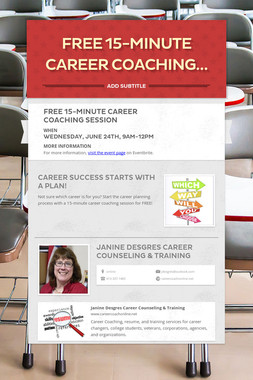 Free 15-minute Career Coaching…