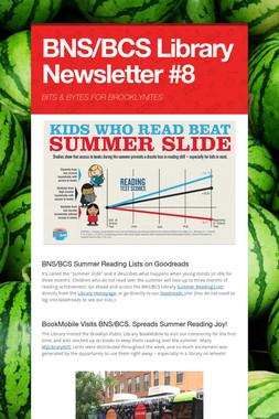 BNS/BCS Library Newsletter #8