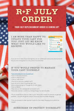 R+F July Order
