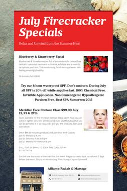 July Firecracker Specials
