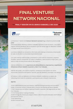 FINAL VENTURE NETWORK NACIONAL
