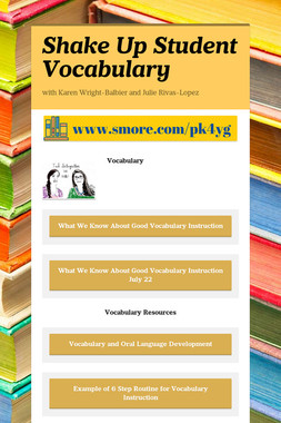 Shake Up Student Vocabulary