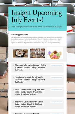 Insight Upcoming July Events!