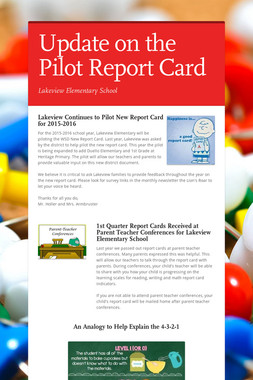 Update on the Pilot Report Card