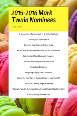 2015-2016 Mark Twain Nominees