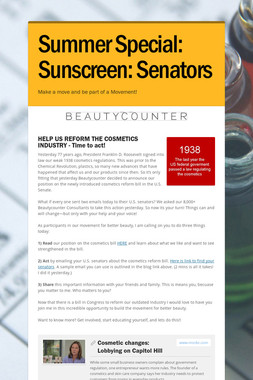 Summer Special: Sunscreen: Senators
