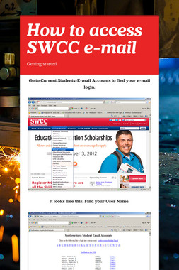 How to access SWCC e-mail
