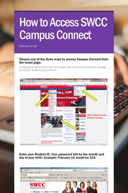 How to Access SWCC Campus Connect