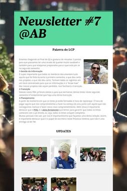 Newsletter #7 @AB