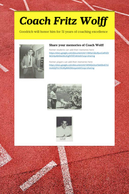Coach Fritz Wolff