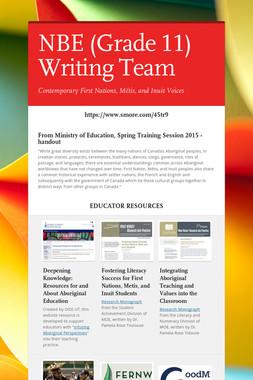 NBE (Grade 11) Writing Team