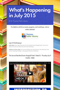 What's Happening in July 2015