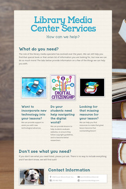 Library Media Center Services