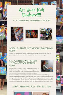 Art Buzz Kids Durham!!!!
