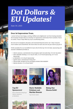Dot Dollars & EU Updates!