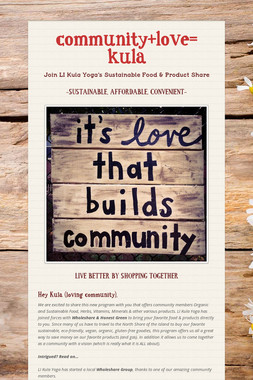 community+love=     kula