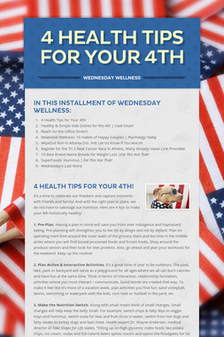 4 Health Tips for Your 4th