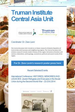 Truman Institute Central Asia Unit