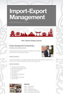 Import-Export Management