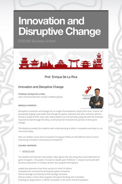 Innovation and Disruptive Change