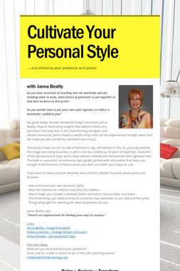 Cultivate Your Personal Style