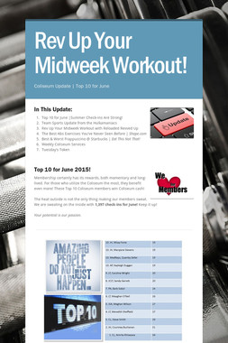 Rev Up Your Midweek Workout!