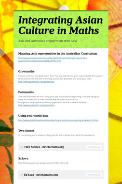 Integrating Asian Culture in Maths