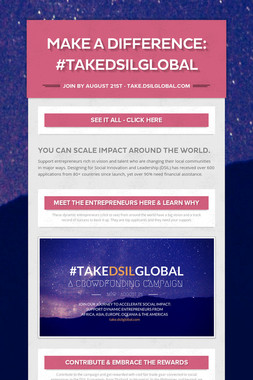 Make a difference: #TakeDSILGlobal